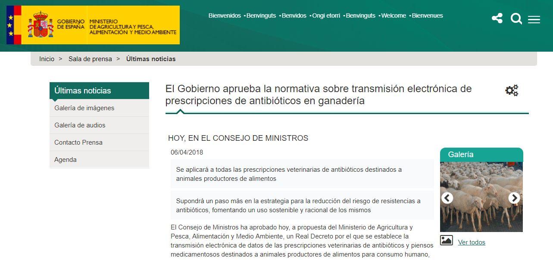 imagen de la noticia: Normativa sobre transmisión electrónica de prescripciones de antibióticos en ganadería