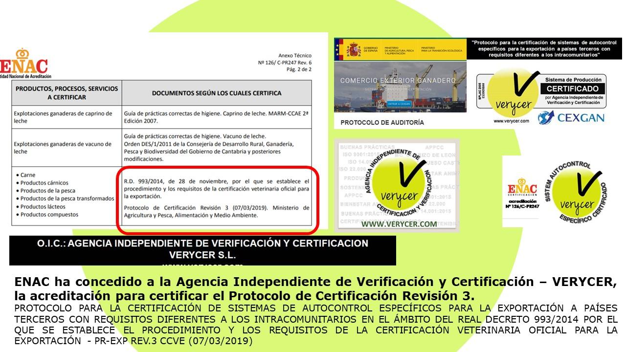 imagen de la noticia: VERYCER - acreditada por ENAC para Protocolo de Certificación SAE Revisión 3 PR-EXP REV.3 CCVE (07/03/2019)